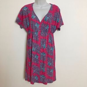 Lilly Pulitzer dress pink blue M Style 46414 Women